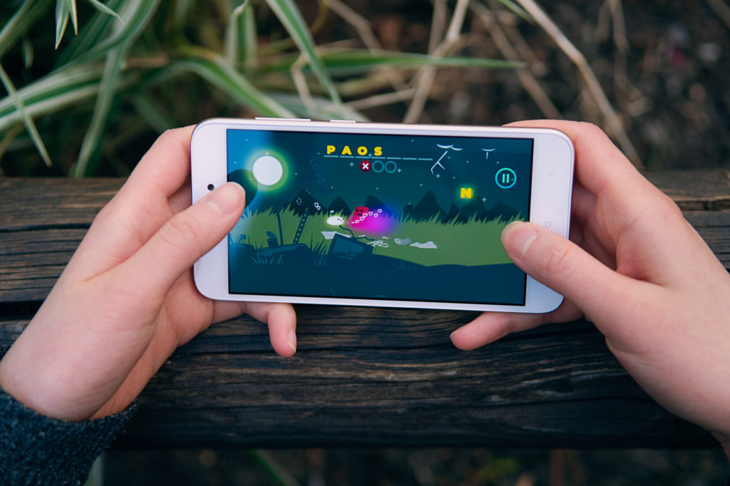 User playing a level of Brightlove. Cece sprays an evil monster with love potion to transform it into a kind creature.